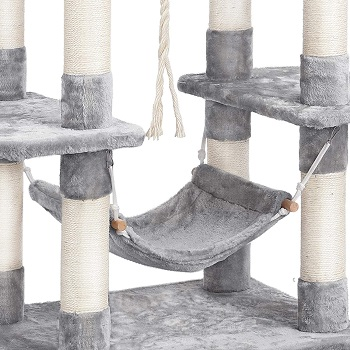 Best Carpeted Cat tree With Hammock For Large Cats