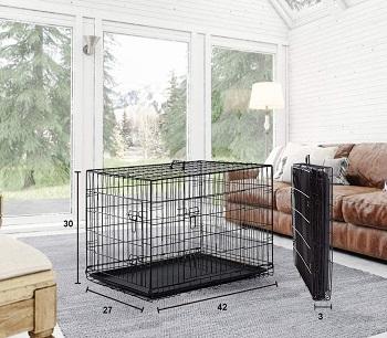 Best Cheap Large Double Door Double Door Folding Dog Cage (2)