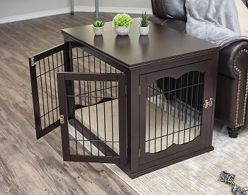 Best Furniture Style Indoor Wooden BIRDROCK HOME Decorative Dog Kennel