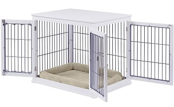 Best Furniture-Style Large Double Door Pet Crate End Table