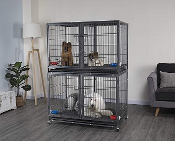 BEST METAL 42 INCH DOG CRATE WITH DIVIDER