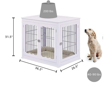 Best Large Indoor Wooden Pet Crate End Table