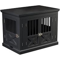 Best Medium Indoor Furniture Triple Door Dog Crate SUmmary