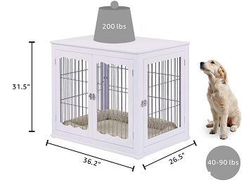 Best Of Best Large Indoor Pet Crate End Table