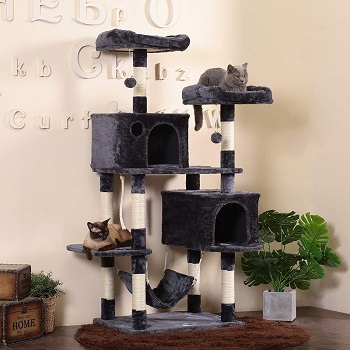 Best Wide cat tree with hammock for large cats