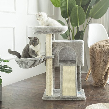 Hey Brother Plush House Cat Tower