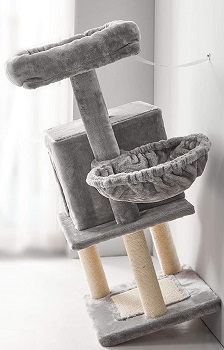 Ibuyke Cat Tree With Two Beds