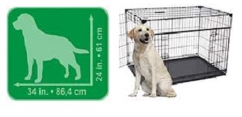 Lucky Dog 42-in Sliding Door Dog Crate