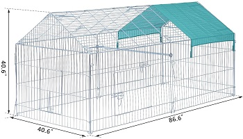 OUTDOOR EXTRA-LARGE Pawhut 87 Bunny Cage