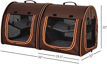 PawHut Dual Compartment Pet Carrier Review