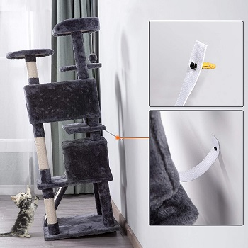 Topeakmart Cat Tree Tower With Ramp