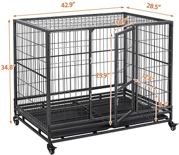 YAHEETECH Metal Dog Cage Review