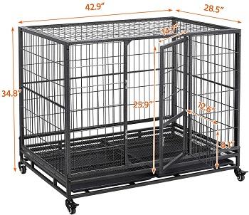 Yaheetech Large Dog Crate