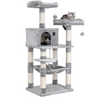 best spacious cat tree with hammock for large cats summary