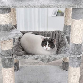 best spacious cat tree with hammock for large cats