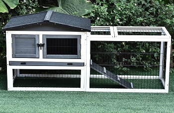 BEST 2 STORY HUTCH FOR TWO RABBITS