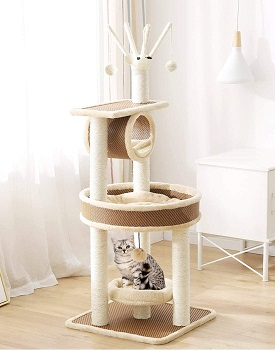 BEST CARPETED CAT TOWER TOY