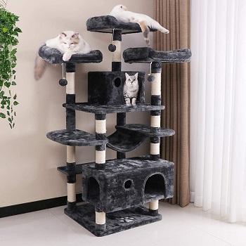 BEST CARPETED LUXURY CAT TREE CONDO HOUSE