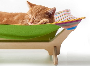 BEST COLORFUL HANGING CAT BED WITH STAND