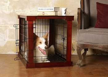 BEST CORNER GIANT WOODEN DOG CRATE FURNITURE