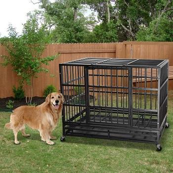 BEST CORNER STRONG METAL DOG CRATE