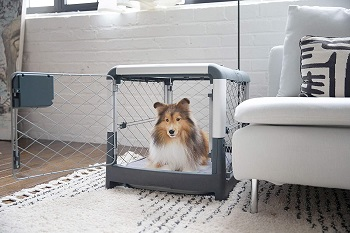BEST FOR PUPPIES DOG CRATE DIVIDER WITH DOOR