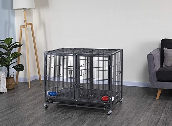 BEST FOR PUPPIES METAL HEAVY DUTY DOG CRATE