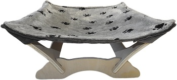 BEST GRAY HANGING CAT BED WITH STAND