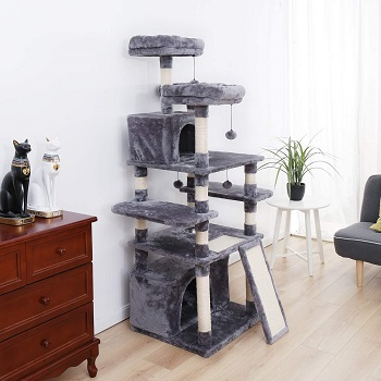 BEST LARGE CAT TREE WITH FOOD BOWL