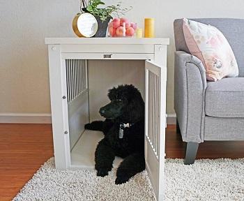 BEST LARGE DOG CRATE BEDSIDE TABLE
