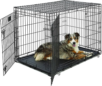 BEST LARGE DOG CRATE DIVIDER WITH DOOR