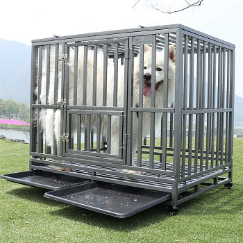 BEST LARGE STRONG METAL DOG CRATE