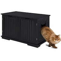 BEST MODERN CAT TREE WITH LITTER BOX ENCLOSURE summary