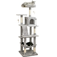 BEST MULTI-LEVEL CAT TOWER GREY summary