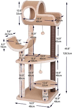BEST OF BEST CARPETED CAT TREE