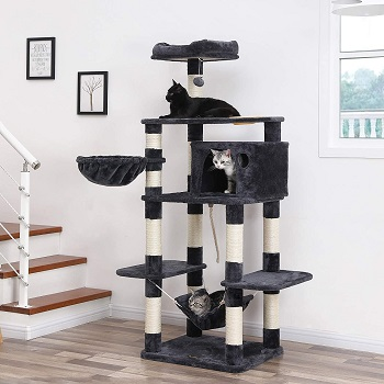 BEST OF BEST CAT TREE WITH FOOD STATION