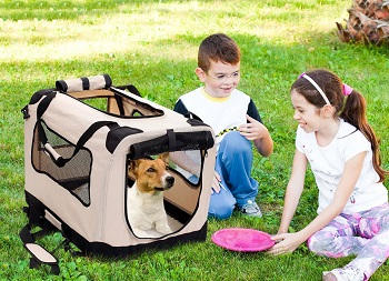 BEST OF BEST SOFT COLLAPSIBLE DOG CRATE