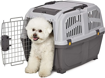 BEST PLASTIC DOG CRATE ON WHEELS