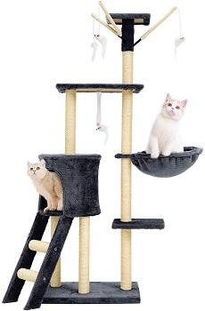 BEST PLAYGROUND CAT TOWER GREY