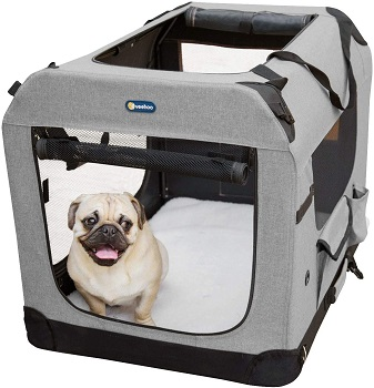 BEST SMALL FOLDING SOFT DOG CRATE