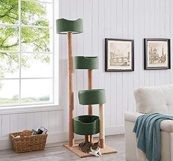 BEST TALL CARPETED CAT TREE