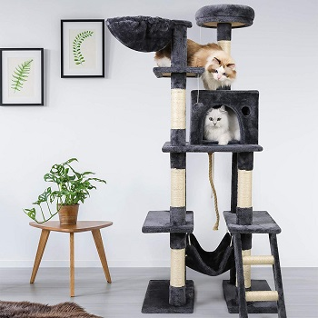 BEST TALL GRAY CAT TOWER