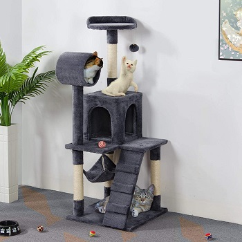 BEST WITH RAMP CAT CONDO WITH HAMMOCK