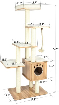 BEST WITHOUT CARPET BIG CAT TREEHOUSE