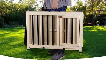 BEST WOODEN DOG HOUSE CRATE
