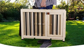 BEST WOODEN ENCLOSED DOG CAGE