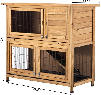 BEST WOODEN HUTCH FOR 2 RABBITS