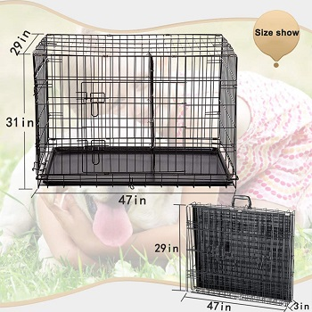 BestPet 48-in Wire Dog Crate