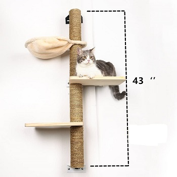 Big Nose Cat Tree To Mount On Wall