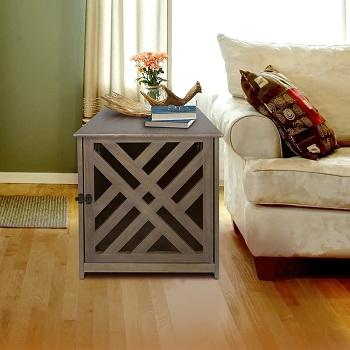 Casual Home Wooden Lattice Pet Crate